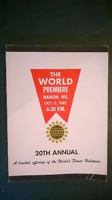WORLD PREMIERE 20th ANNIVERSARY HOLSTEIN SALE CATALOG 1987 MADISON WISCONSIN
