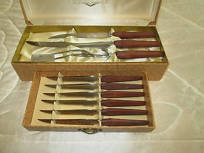 Glow Hill Cutlery 9 Pc Stainless Steel Carving Set with Bakelite Handles