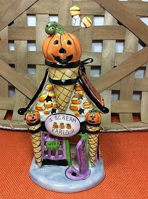 "NEW Blue Sky Clayworks Heather Goldminc Halloween ""I Scream Parlor"" Tea Light #1"