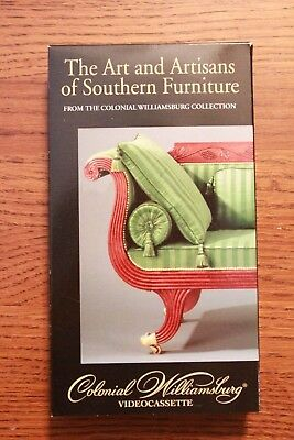 Art And Artisans Of Southern Furniture - Colonial Williamsburg - Vhs Tape - Wow!