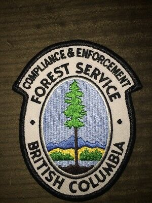 BC Forest Services Compliance And Enforcement Patch Canada British Columbia