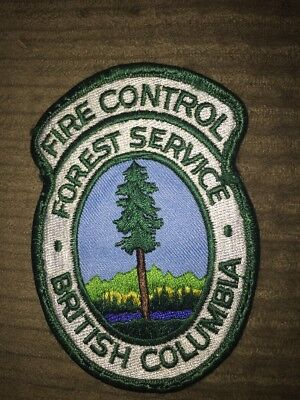 BC Forest Service Fire Control Patch British Columbia Canada