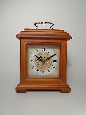 Solid Wood Bracket Clock Shelf Clock Mantel Clock NEW IN BOX!
