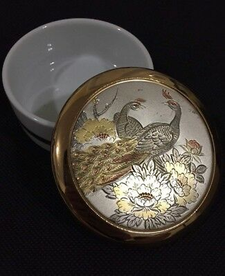 The art of Chokin collection 24k gold beautiful peacock design in box