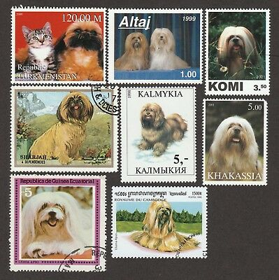 LHASA APSO **Int'l Dog Postage Stamp Collection ** Unique Gift **