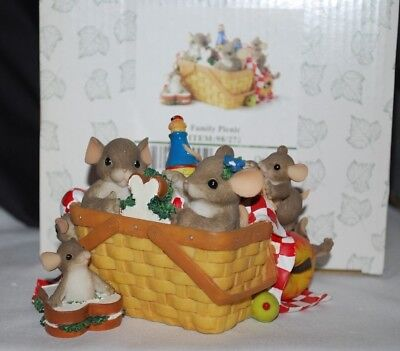 """Fitz & Floyd Charming Tails """"FAMILY PICNIC"""" Special Event Ltd Ed #98/272 (BOX)"""