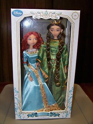 BRAVE Disney Limited Edition Doll Set, MERIDA + Queen ELINOR, 1/2500, NIB