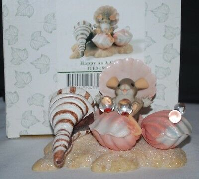 """2005 Fitz & Floyd Charming Tails """"HAPPY AS A CLAM"""" #89/269 (BOX)"""