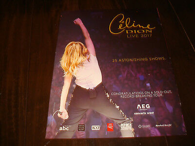 """CELINE DION 2017 congrats ad on stage for """"25 Astonishing Shows"""""""