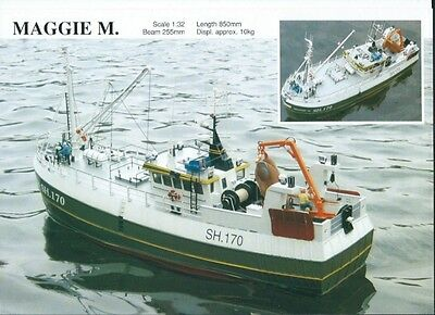MAGGIE 'M' Trawler Model Slipway Boat Kit  Scale 1/32  Length 850mm For RC NEW