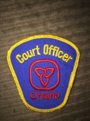 Vintage Court Officer Patch Ontario Canada