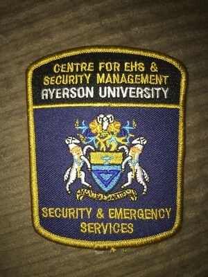 Ryerson University Security And Emergency Services Ontario Canada Patch
