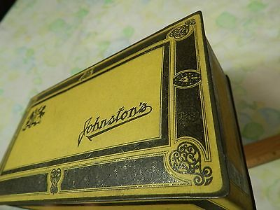 Johnston's Chocolates (One Pound~Parade) Vtg METAL TIN CANDY BOX w/ Hinged Lid