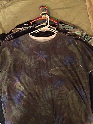 Lot Of 10 Mens Dress Style T-Shirts Size XXL Varies Brands. See Description List