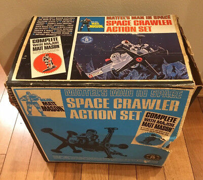 Mattel Space Crawler * BOX ONLY * 1966 Action Set VTG Man in Space Toy