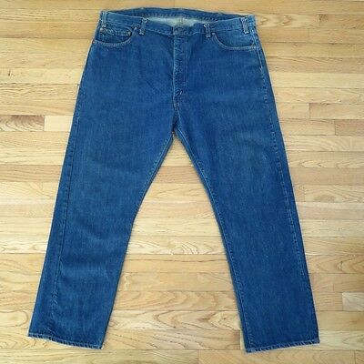 VINTAGE ORIGINAL LEVIS JEANS 505 DENIM SINGLE STITCH W46 L30 1970's TALON