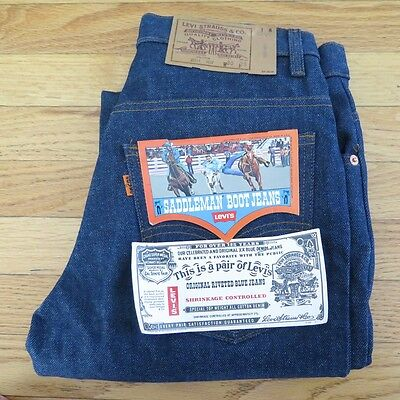 VINTAGE ORIGINAL DEADSTOCK LEVIS SADDLEMAN BOOT JEANS 1970's W30 L29 MADE IN USA