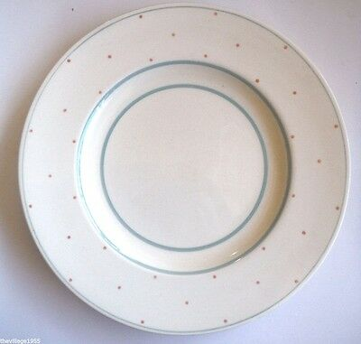 Susie Cooper / Dinner Plate / Pink Polka Dots & Turquoise Circles / Art Deco