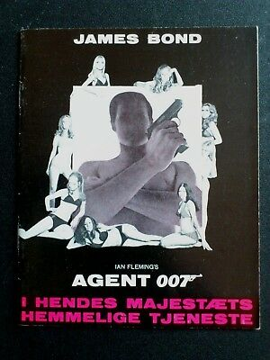 "Danish movie program.""On Her Majesty´s Secret Service"" James Bond.George Lazenby"