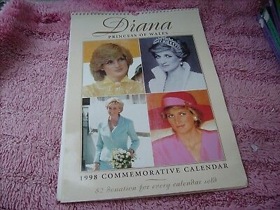 Princess Diana  1998 Calender   Pre  Owned