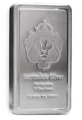 10 oz Scottsdale STACKER® Silver Bar .999 Silver