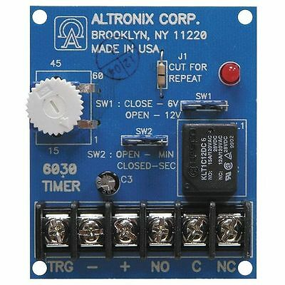 Altronix 6030 Digital Timer Bell Cut-Off Timer 6/12 VDC Programmable NEW IN BOX