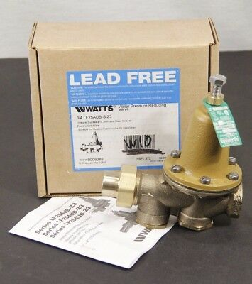 """NEW & Complete! WATTS Water Pressure Reducing Valve 3/4"""" LF25AUB-S-Z3 Lead Free"""