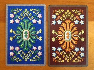 1 PAIR playing cards swap . Silver & Gold Retro Patterns