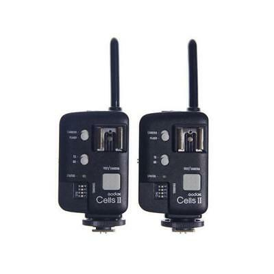Godox Cells II Wireless 1/8000 Transceiver Trigger Set X2 For Canon