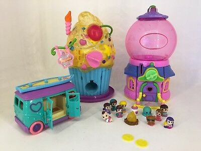Squinkies - Larg lot of Playsets, Combi, Dispenser House, Figures & Coins !