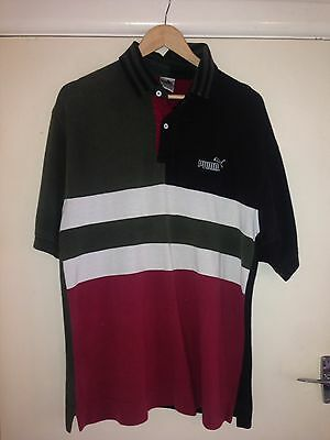 Vintage Puma Button Up Polo Shirt Medium