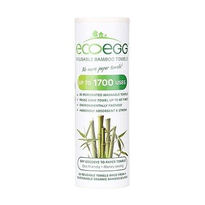 EcoEgg Kitchen Towel Bamboo Re-Usable Washable Kitchen Roll Paper Organic