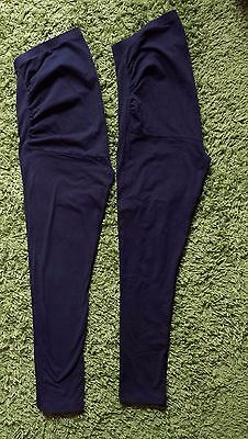 George maternity leggings black size 16 over bump 2 pairs