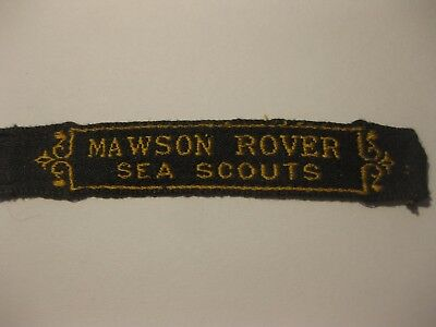 Vintage Mawson Rover Sea Scouts - Scout Name Tape