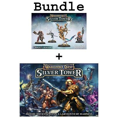 Warhammer Quest Silver Tower and Mighty Heroes Set (German) Age of Sigmar GW