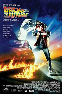 "Back To The Future Movie Poster  Michael J Fox Christopher Lloyd 24""X36 New"