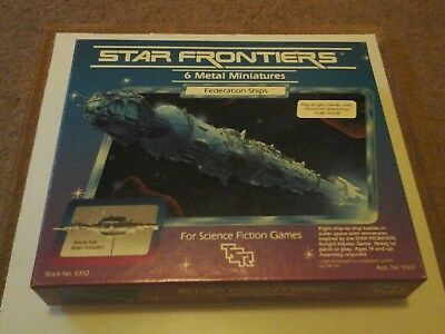 Star Frontiers Miniatures Federation Ships TSR