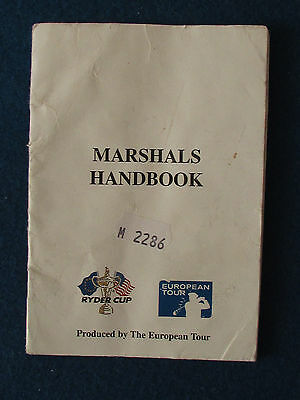 Ryder Cup 1993 - The Belfry - Marshal's Handbook - Produced by the European Tour