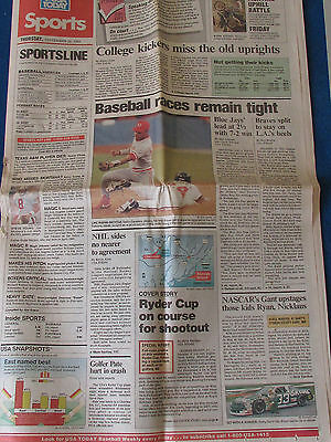 Ryder Cup 1991 - Kiawah Island - USA Today Sports Supplement - 26/9/91