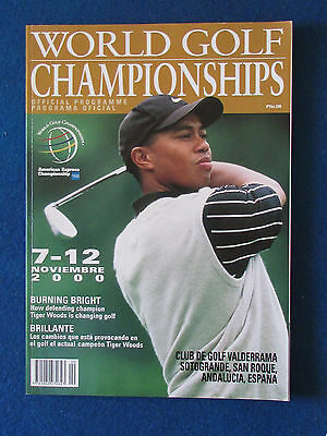 World Golf Championships Programme 2000 - Valderrama - 132 pages