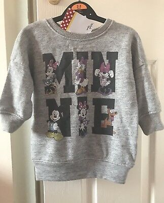 Baby Girls Disney Next Minnie Mouse Crew Jumper New BNWT 6-9 Month Christmas Top