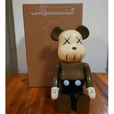 Kaws Original Fake Bearbrick 400% Brown Replica Figure