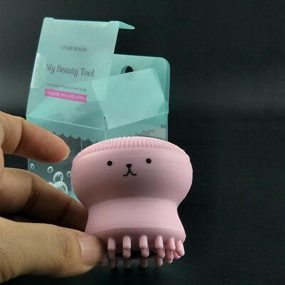 NEW Silicone Jellyfish Keratin Care Blackhead Remover Face Brush Facial Cleaner