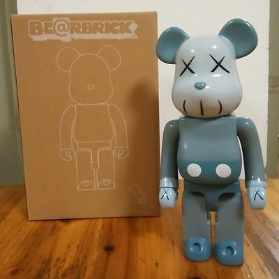 Kaws Original Fake Bearbrick 400% Grey Replica Figure