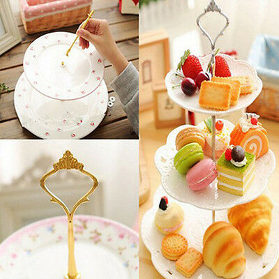 2 3 Tier Cake Plate Stand Cupcake Fittings Silver Golden Wedding Party Cocktail.