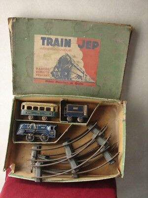 Antique Trains Jep SNCF Mechanical Wind Up Train Set In Original Box - Working