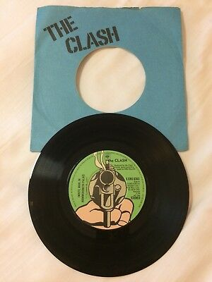 "Original 7"" By The Clash - white Man.. Blue Cover."