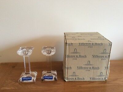 Villeroy Boch Crystal Candle Holders Pair
