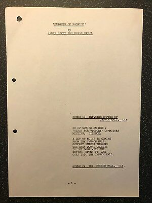 Dad's Army ORIGINAL SCRIPT page RARE Knights of Madness Dads Lowe PAGE 1