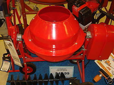 New 1 1/4 Cu Ft Electric Cement Concrete Stucco Mixer